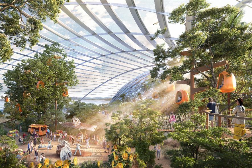 Artist impression of Eden Project North interior - credit: Eden Project