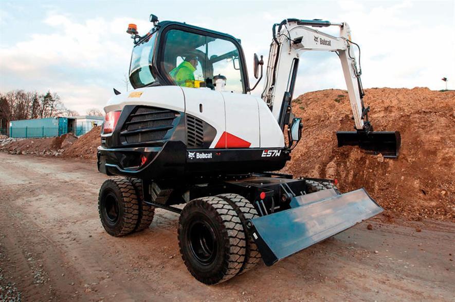 Bobcat E57W wheeled excavator - image: Bobcat