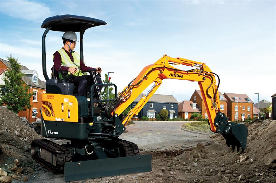 Hyundai R17Z: variable undercarriage for easier access through narrow entrances - image: Hyundai