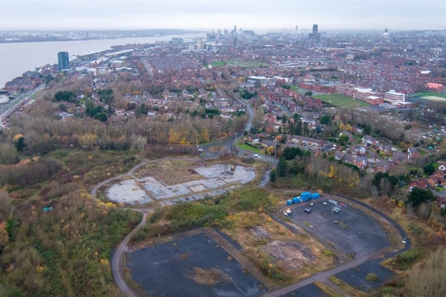 Proposed former landfill site in Liverpool