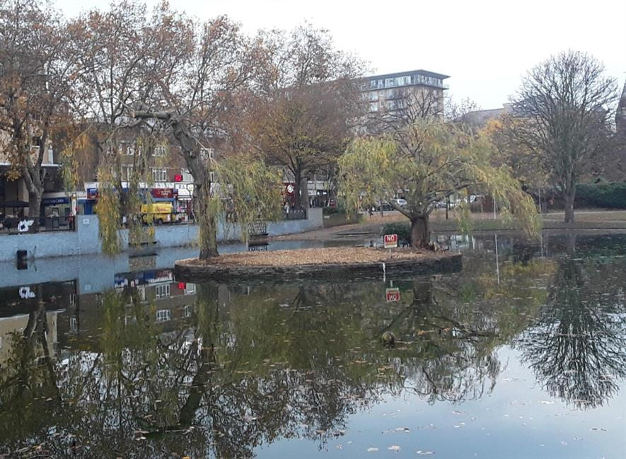 Feltham Pond after Maydencroft's initial work. Image: Maydencroft