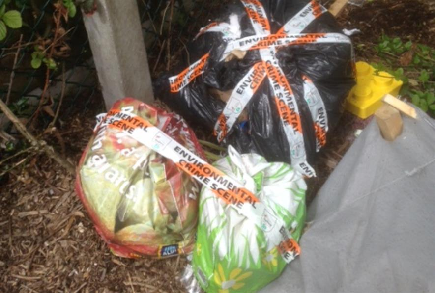 Environmental crime scene - fly-tipping under investigation. Image: Southway Housing Trust