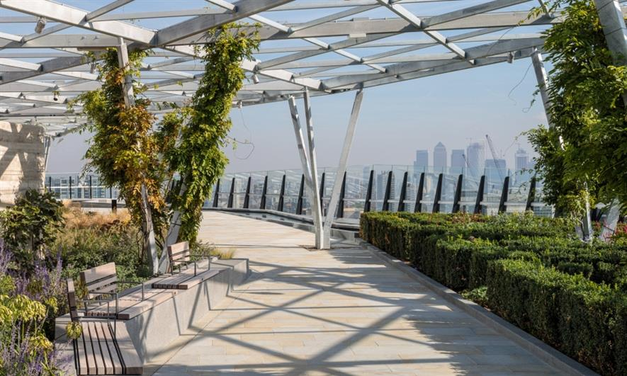 The completed Garden at 120. Image: Copyright Dirk Lindner/Eric Parry Architects