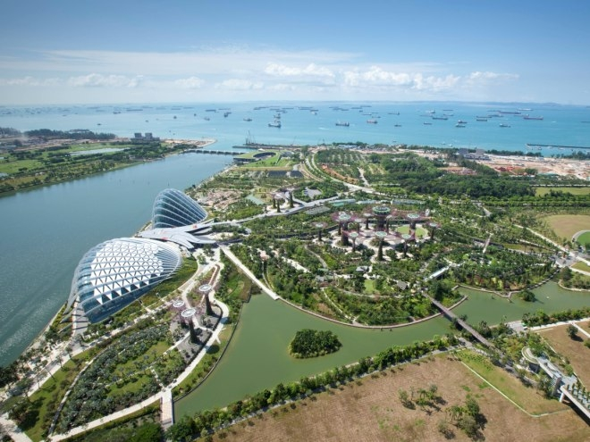 The award-winning Gardens by the Bay scheme (photo Grant Associates)