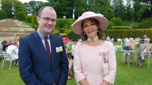 Chris Brannigan and the Duchess of Northumberland