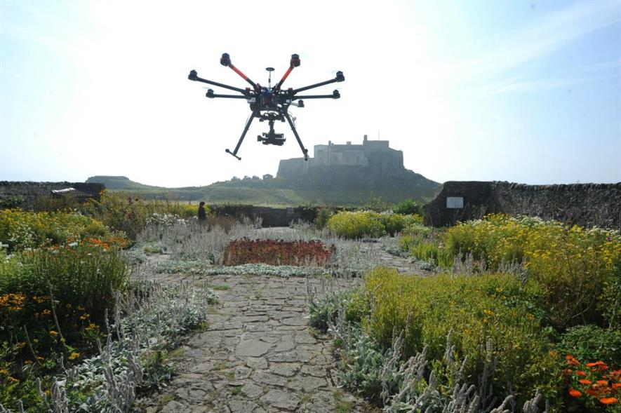 Filming at Lindisfarne Castle. Picture: Paul Kingston