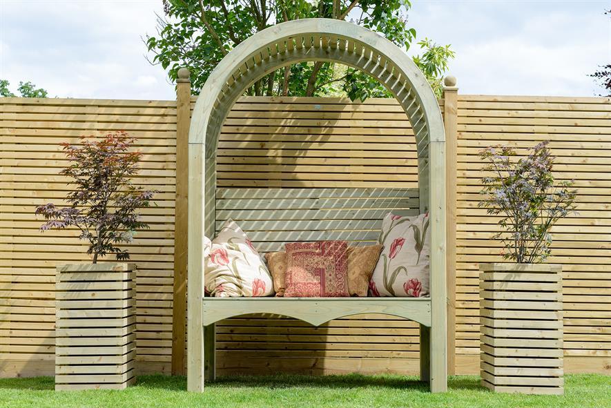 Contemporary garden arbor - image: Grange