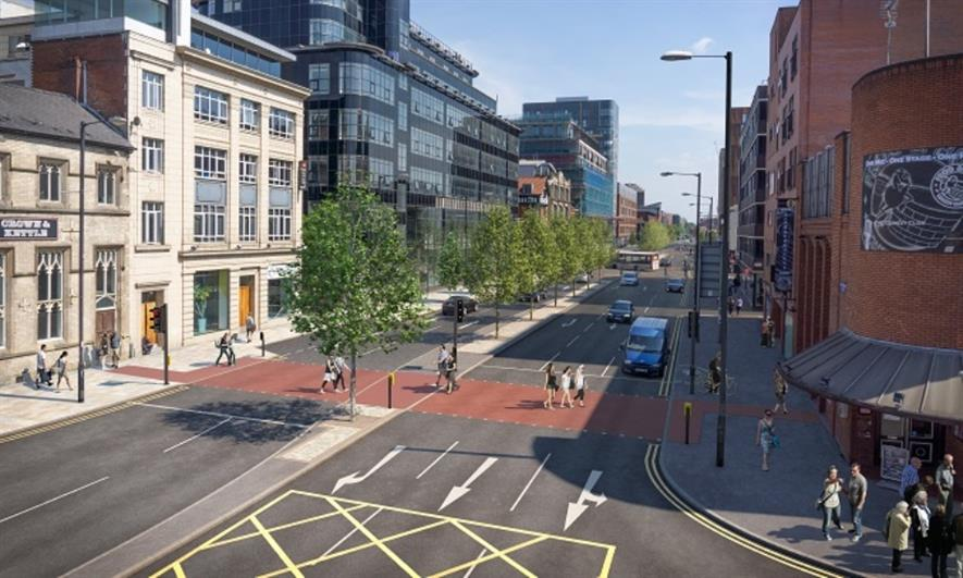 Trees will be planted along the route. Image: Manchester City Council