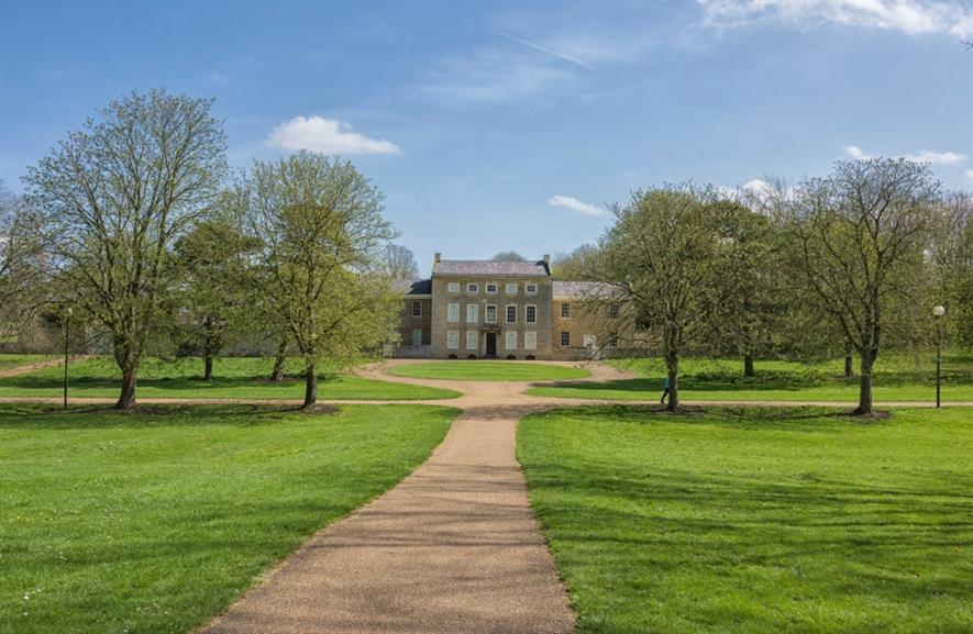 Great Linford Manor Park and its manor house. Image: The Parks Trust