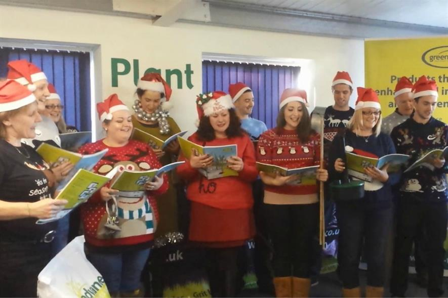 Green-tech staff use a Christmas classic to promote their products