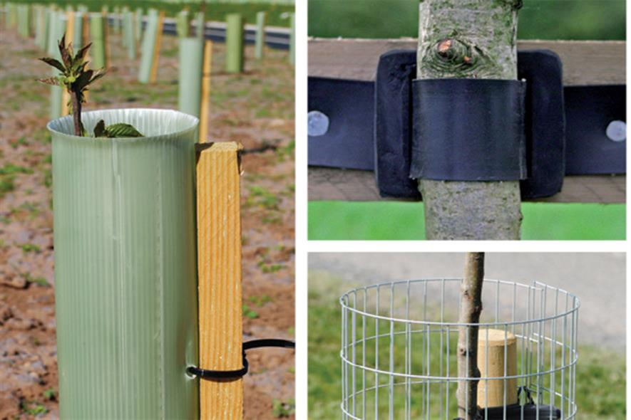 Greentech tree stakes and ties - image: Greentech