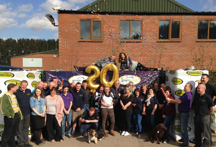 The Green-tech team celebrate 20 years in business