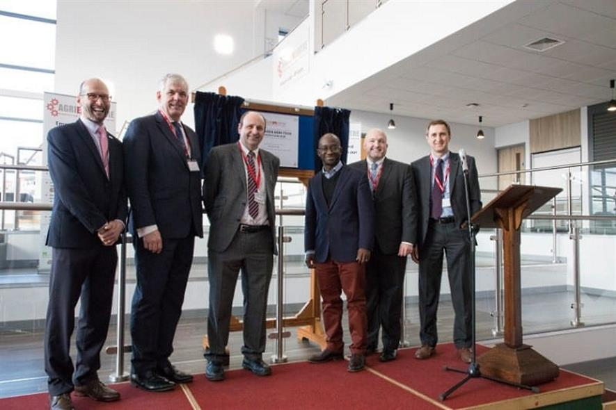 Sam Gyimah MP (third from left) opens the new hub - image: Agri-EPI Centre
