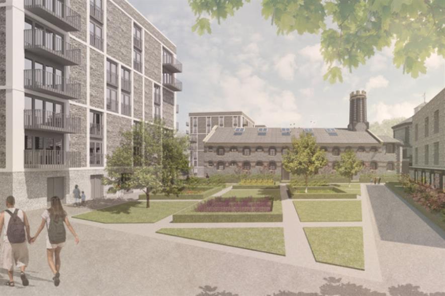 Grant Associates' design features shared gardens. Image: Grant Associates