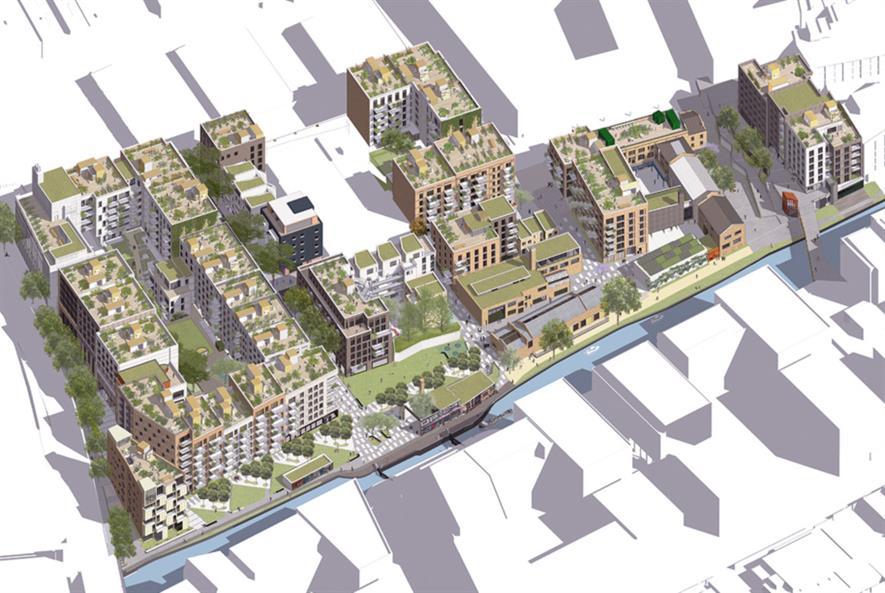 Visualisation of Hackney Wickside. Image: Ask Sakula Architects