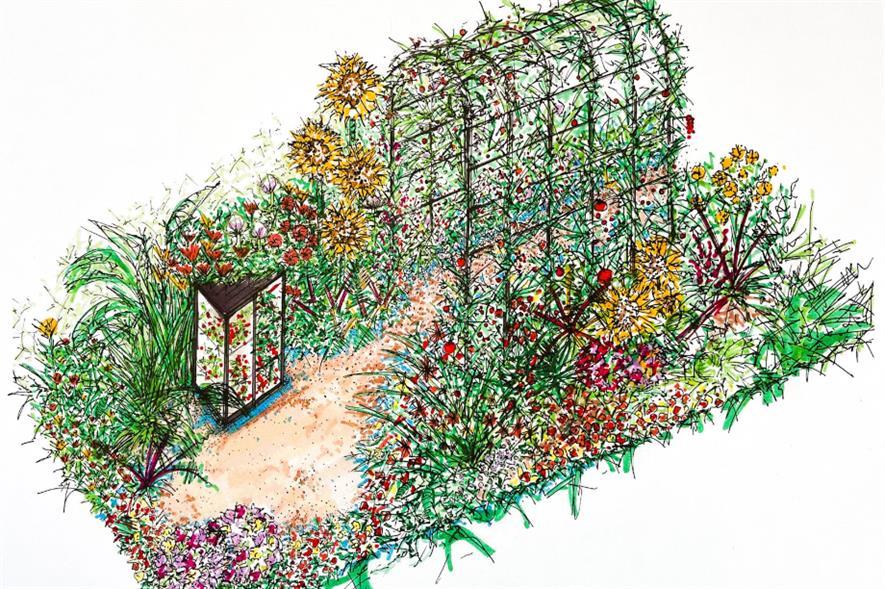 Design for She Grows Veg garden - credit: Plans for Plants