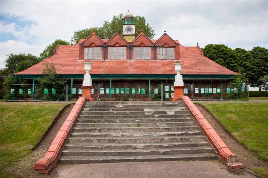 The run-down Hanley Park pavilion. Image: Supplied
