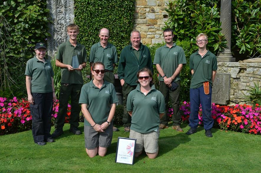 The gardening team at Hever Castle