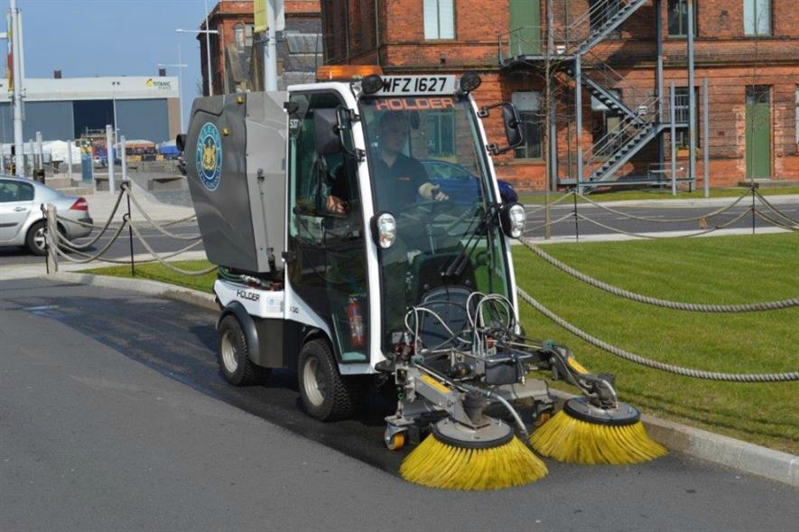 Holder X 30 (27 hp) sweeper in Belfast. Image: Max Holder