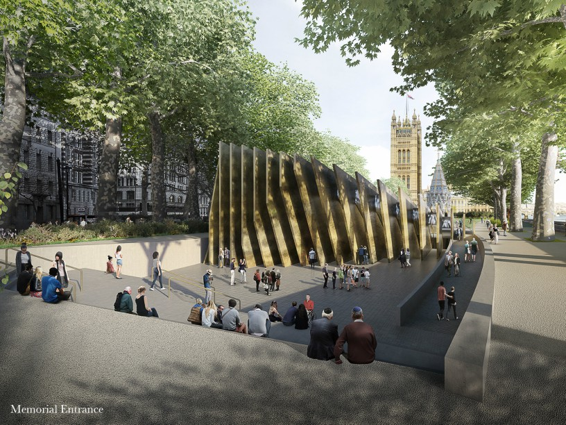 The winning design from the front. Image copyright: Adjaye Associates and Ron Arad Architects.