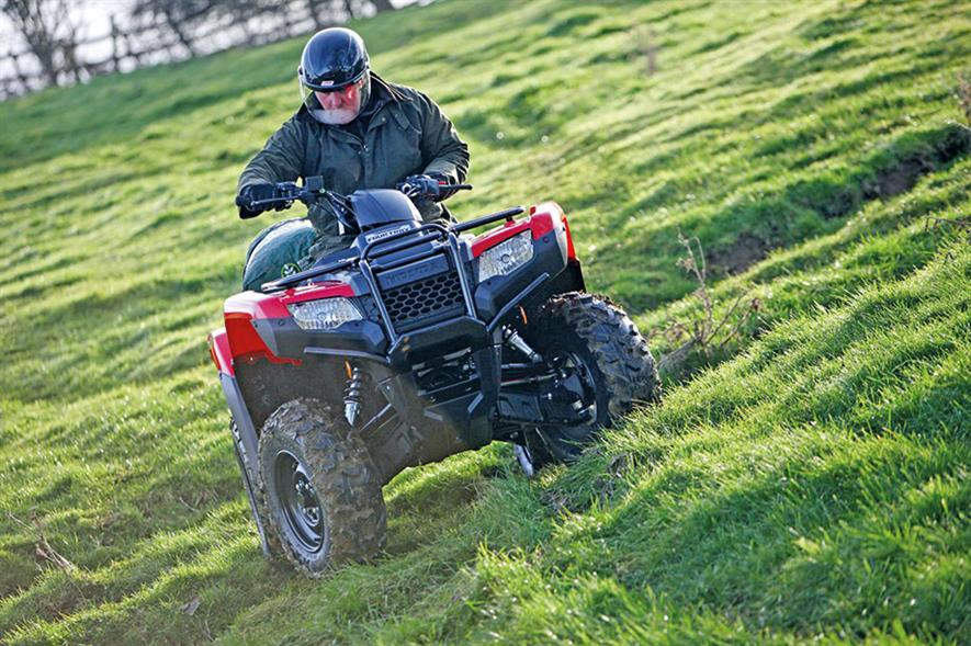 Quad bikes: versatile machines that can cope with the roughest terrain and be paired with a wide range of useful attachments - credit: Honda