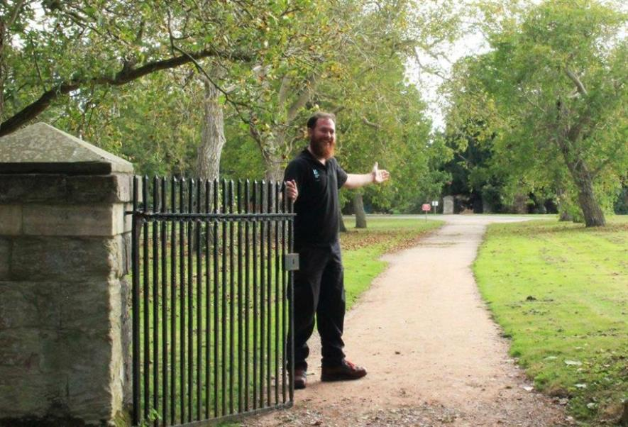 Croome warden Hugh Warwick at the start of the path