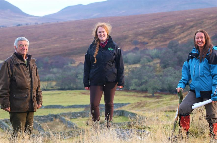Left to right: Dornoch Farmer Ken Greenland; Helen Webb, woodland officer from Scottish Forestry; and Sarah Toulson of Cawdor Forestry - credit: Scottish Forestry