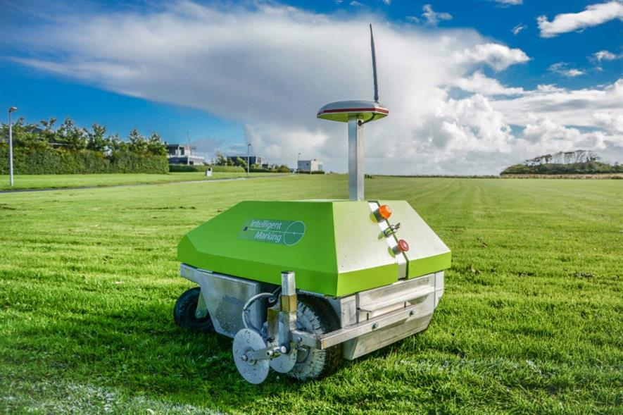 Intelligent One, Rigby Taylor's new line marking robot. Image: Rigby Taylor