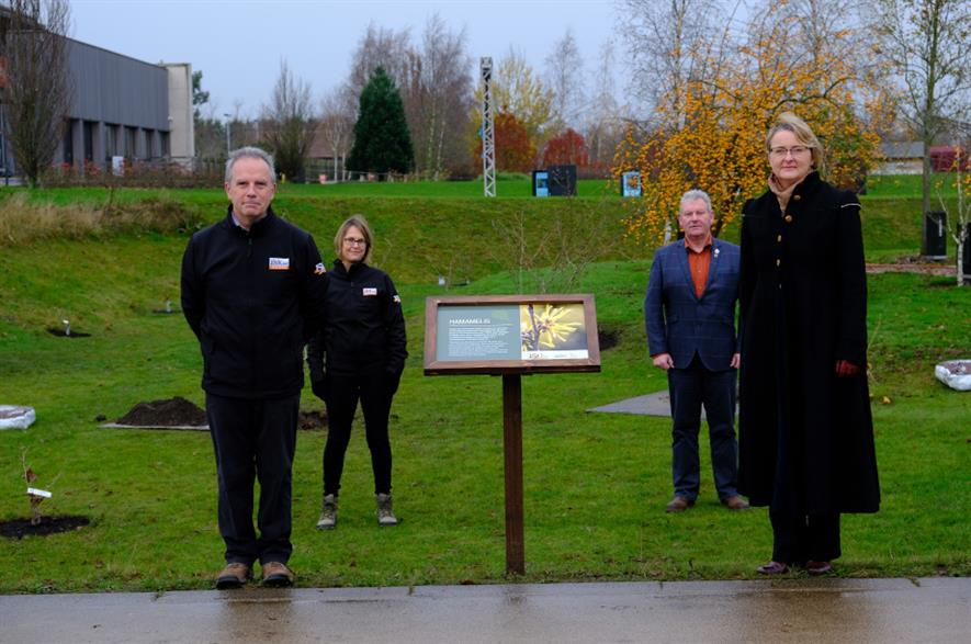 The 15 witch hazel were planted at the National Memorial Arboretum - credit: Phillip Nixon