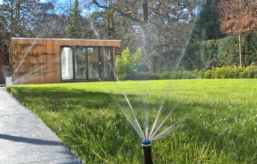 Sprinkler systems can now be controlled by mobile phone. Image: JPS Landscape and Design
