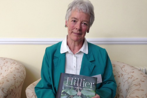 Jean Hillier with her book