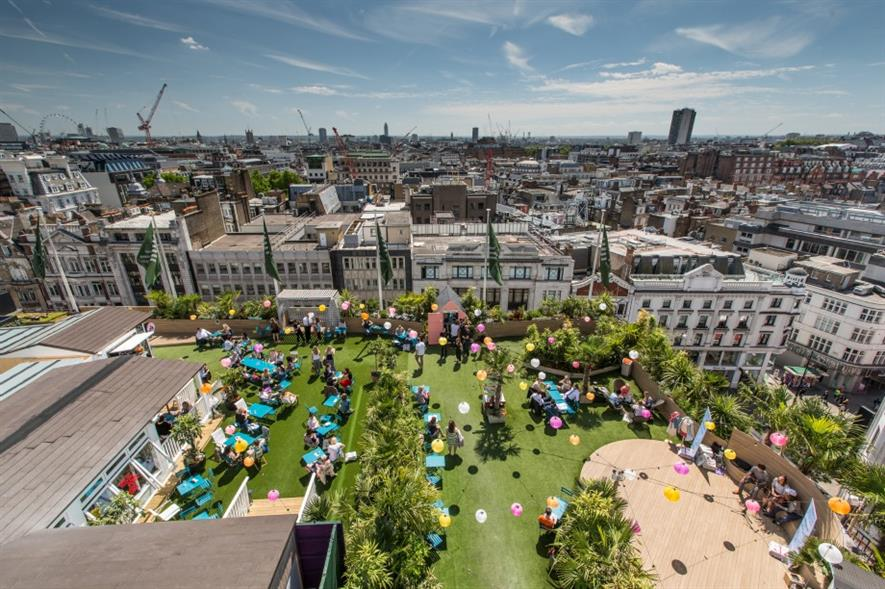 John Lewis roof garden. Image: Supplied