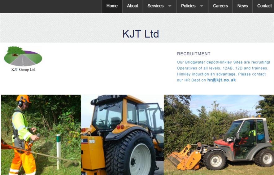 Screenshot of KJT Group's website. Image: KJT Group