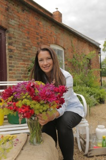 BBC presenter Rachel de Thame in the Kelmarsh walled garden