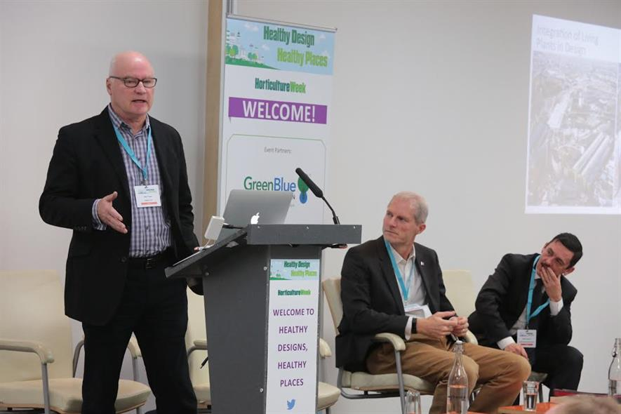 Ken Trew, Argent, Ed Suttie, BRE and Mark Camley, LLDC at Healthy Design, Healthy Places: Image HW