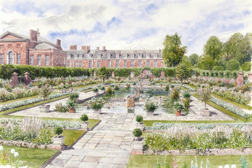 An artist impression of how The White Garden will look. Image: supplied