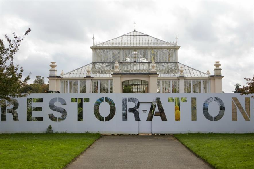 Work is nearly complete at Kew's Temperate House. Image: HW