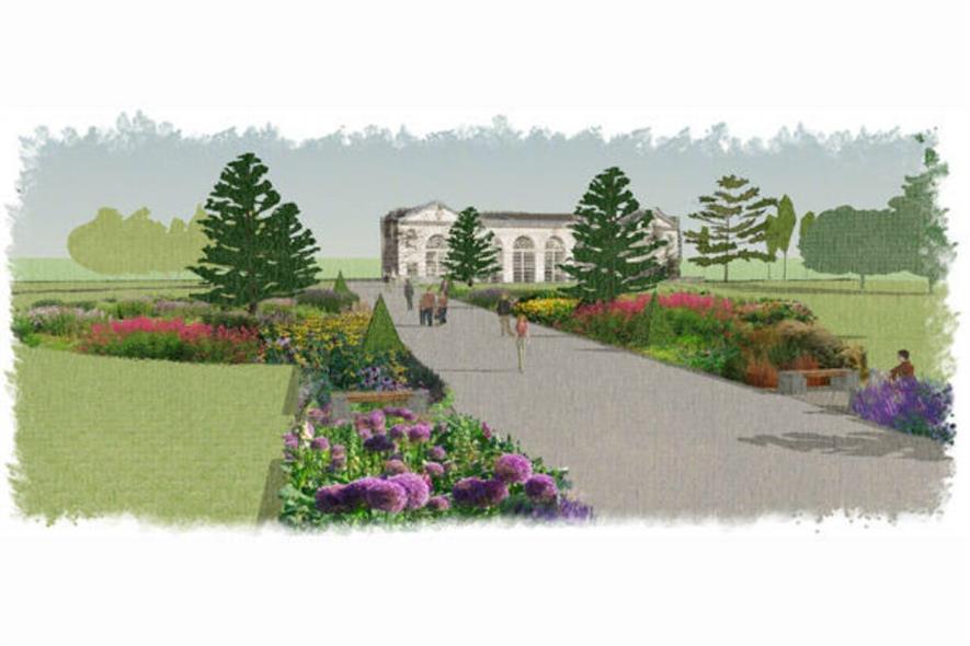 Artist's impression of the new broad walk borders. Image: Kew