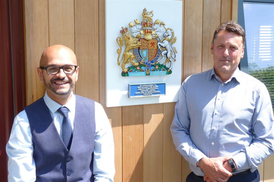 Business development manager Khalid Hareshe and managing director Nick Guest. Image: AHS