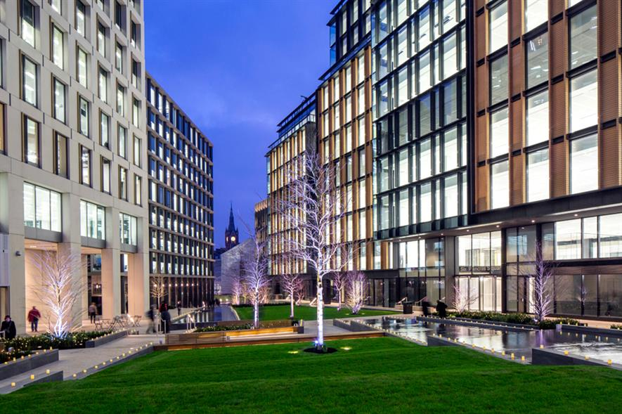 Pancras Square: green space provides a car-free route between King's Cross and St Pancras stations. All pictures: © John Sturrock