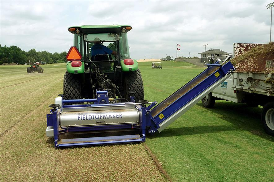 Koro Field Top Maker: single pass needed - image: Campey Turf Care Systems