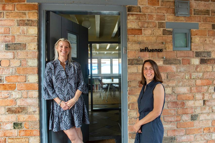 Influence's managing director Sara Boland and associate Shona Hatton - credit: Influence