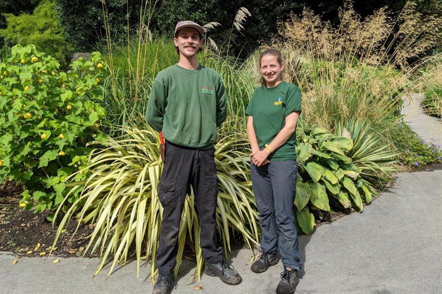 Lewis Belcher and Catt Watton, trainee horticulturalists at Birmingham Botanical Gardens - credit: BBG