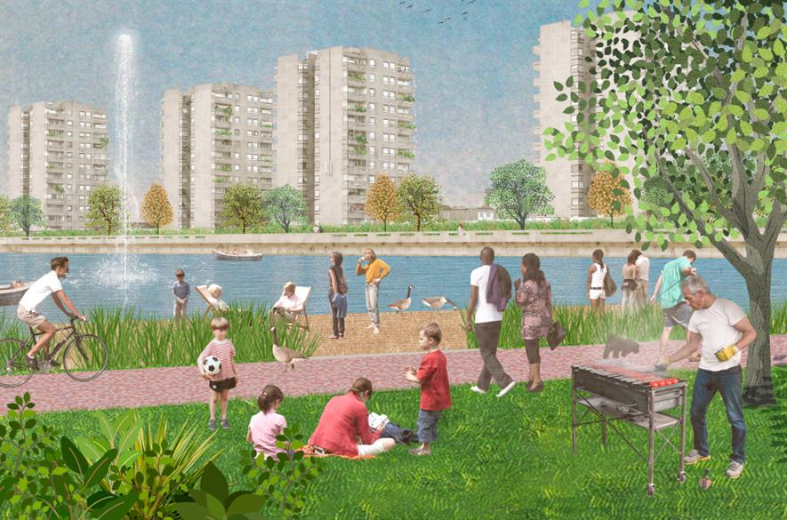 Peabody owns 65% of the land in Thamesmead which includes 240ha of parks and green space - credit: Peabody