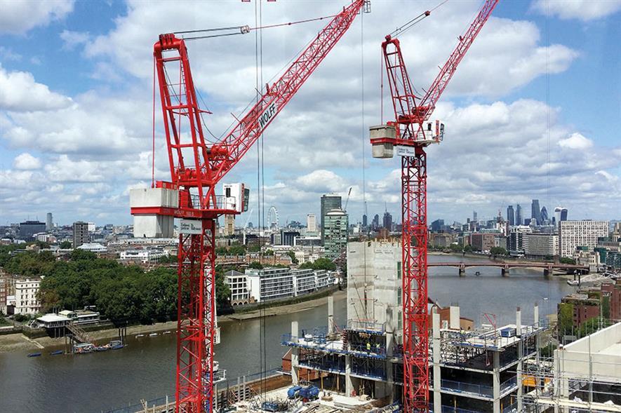 London cranes. Image: Pixabay