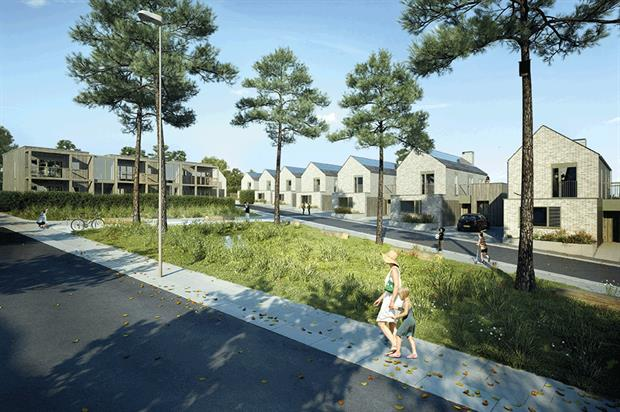 Lovedon Fields was designed with extensive public open space. Image: HAB Housing