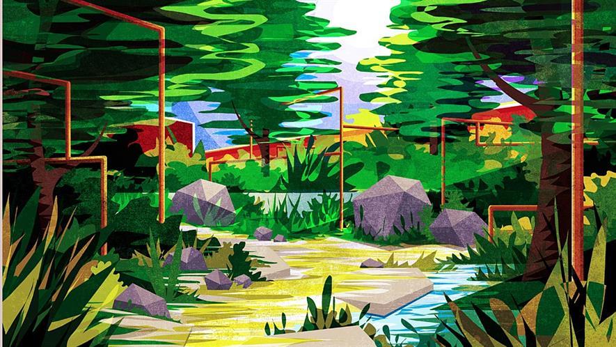 M&G Harris Bugg Crocus Chelsea 2020 garden plan