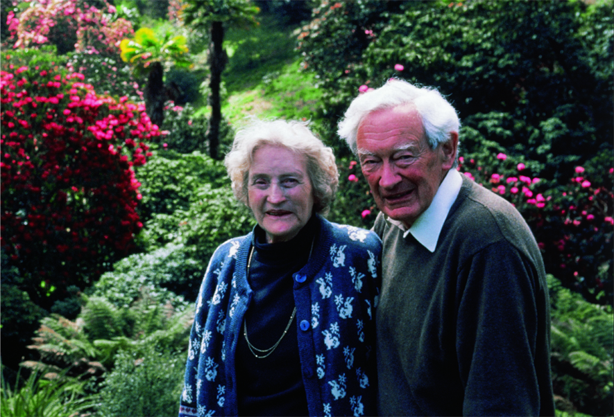 Major Hibbert with his wife Eira in Trebah Garden