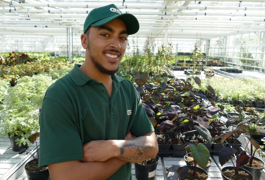 OCS apprentice Malachi Yarker in the Hyde Park Super Nursery. Image: Royal Parks
