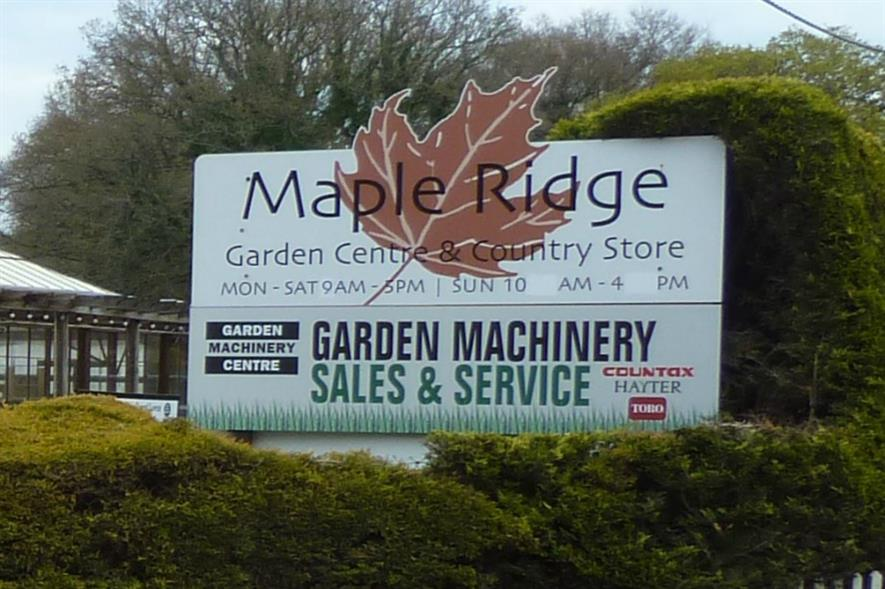 Maple Ridge Garden Centre is in administration. Image: Supplied
